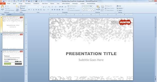 Free Plantilla PowerPoint con Números - Free PowerPoint Templates ...