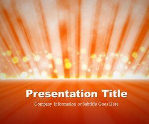 Light Rays Orange PowerPoint Template