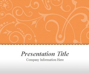 Vintage Floral Orange PowerPoint Template