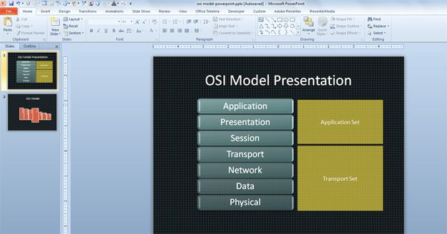 Effectiveness of PowerPoint as a Communication Medium OSI Model PPT