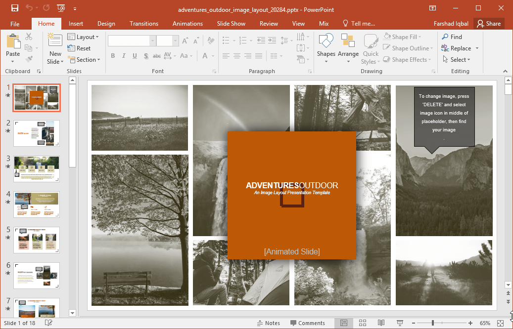 outdoor images powerpoint template