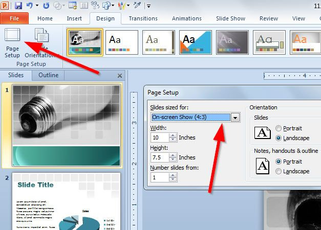 Make a 16:10 Presentation Template in PowerPoint 2010