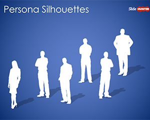 Persona Silhouettes PowerPoint Template