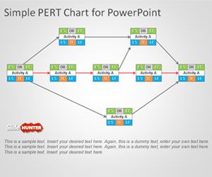 PERT Chart Template for PowerPoint