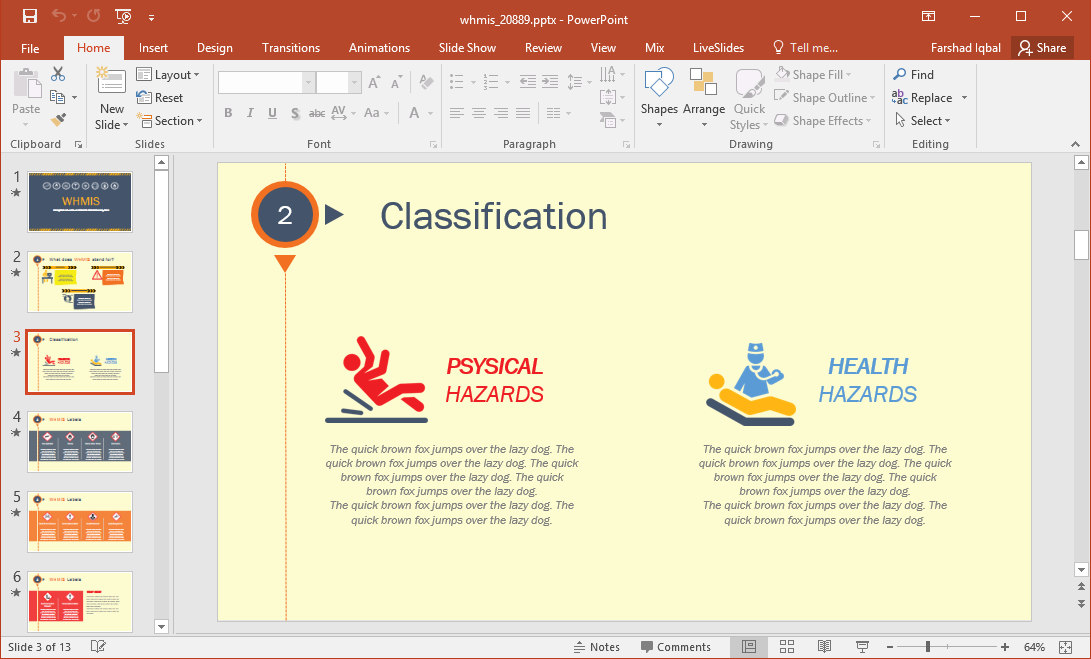 classification of physical and health hazards