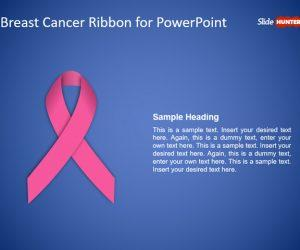 Free Breast Cancer Ribbon PowerPoint Template
