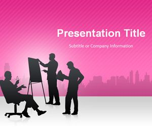 Business Conference Pink PowerPoint Template