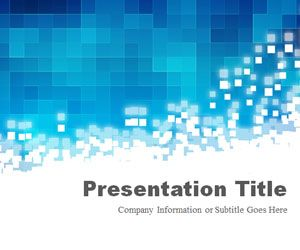Pixels Blue PowerPoint Template