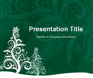Pine Silhouette Green PowerPoint Template