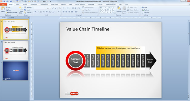 Free Value Chain Timeline Template for PowerPoint