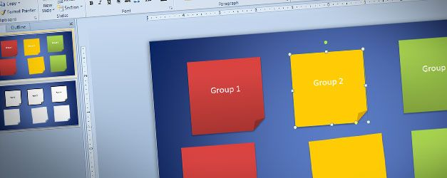 Create Sticky Notes in PowerPoint 2010