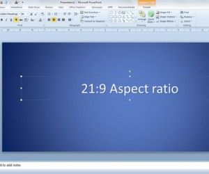 Using 21:9 Aspect Ratio in PowerPoint presentations
