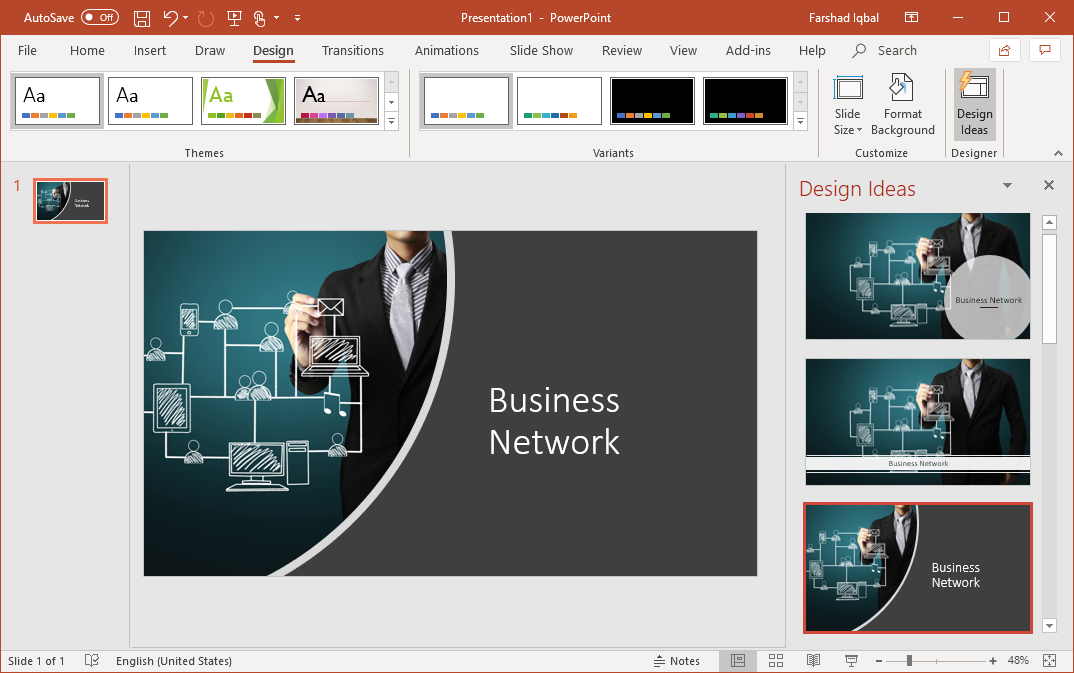powerpoint automatic design