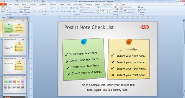 Check List in PowerPoint Slide Design