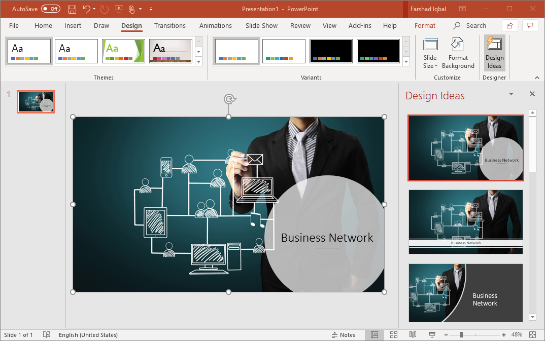 powerpoint design ideas feature