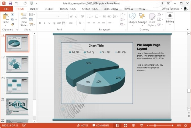 powerpoint editable pie chart