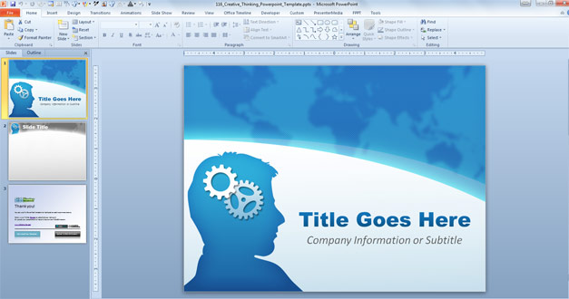 Free Creative Thinking Powerpoint Template