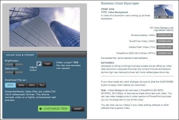 presenter media business cloud skyscraper video animation