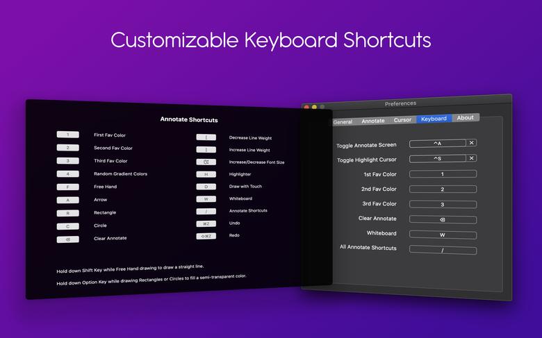 presentify shortcuts