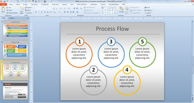 [CSDW_4250]   Simple Process Flow Template for PowerPoint | Process Flow Diagram Powerpoint 2010 |  | Slide Hunter