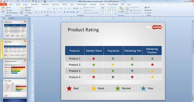 Product comparison template powerpoint free rating stars powerpoint template toneelgroepblik Gallery