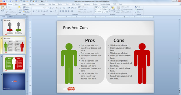 Classroom Layouts Pros And Cons ~ Free pros cons powerpoint template