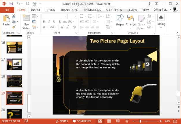 pumping oil powerpoint template