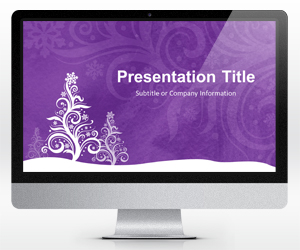 Purple Christmas PowerPoint Template