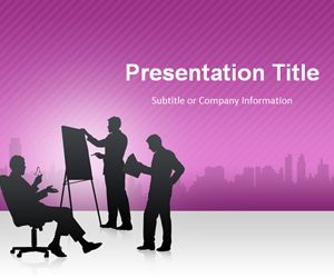Business Conference PowerPoint Template Purple