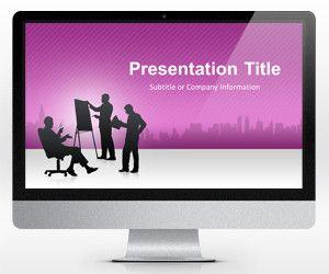 Widescreen Business Conference Purple PowerPoint Template (16:9)