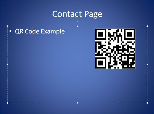qr code ppt template