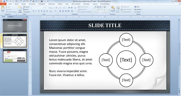 Internal Slide Example PowerPoint
