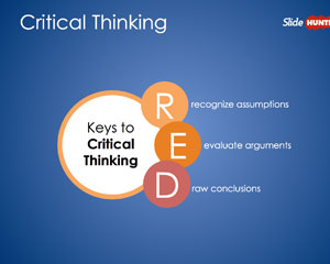Pearson's Red Critical Thinking PowerPoint Diagram