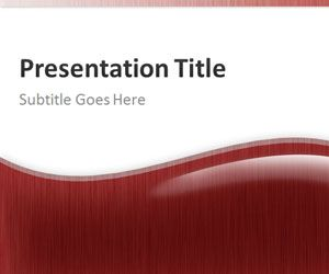 Red Abstract PowerPoint Template