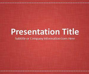 Linen Red PowerPoint Template