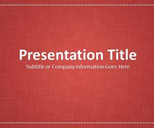 Linen Red PowerPoint Template