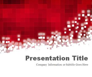 Pixels Red PowerPoint Template
