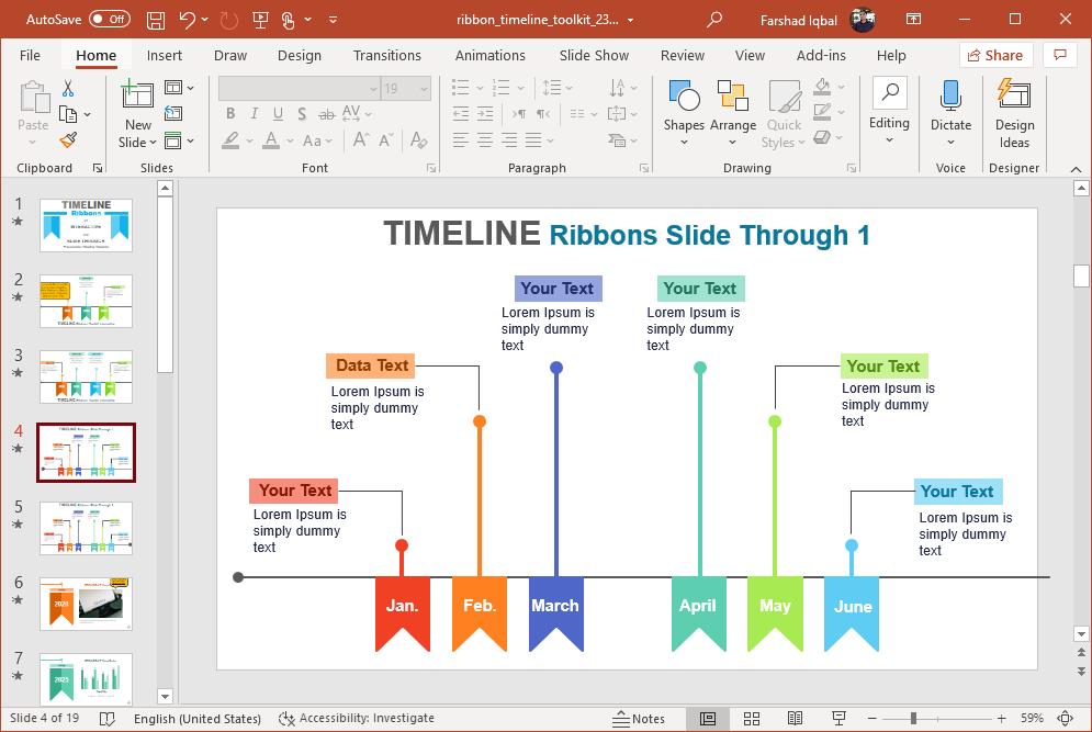 ribbons timeline