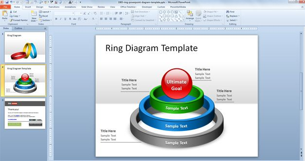 free ring template for powerpoint 3d