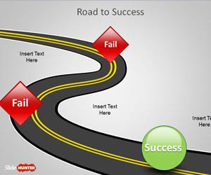 Road to Success PowerPoint Template
