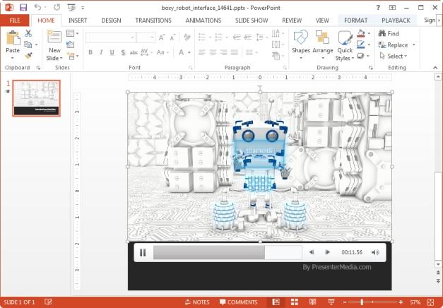 robot powerpoint template