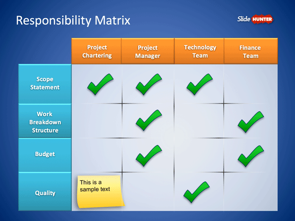 Roles & Responsibilities Matrix PowerPoint Template