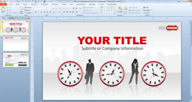 royalty free widescreen template for PowerPoint presentations