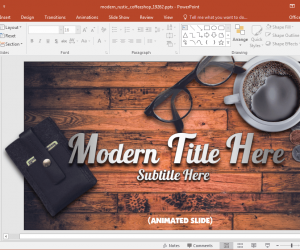 Animated Coffee Shop Template For PowerPoint