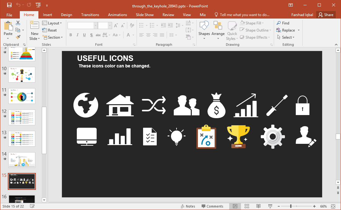 sample clipart with different icons