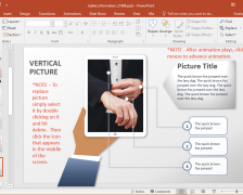 Animated Tablet Information PowerPoint Template