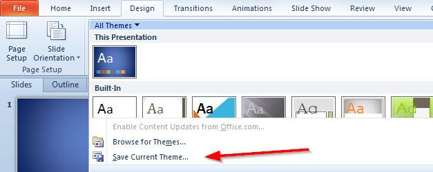 How To Change Default Template Size in PowerPoint 2010