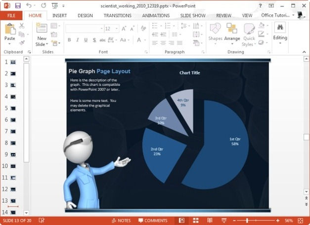 scientific powerpoint graph