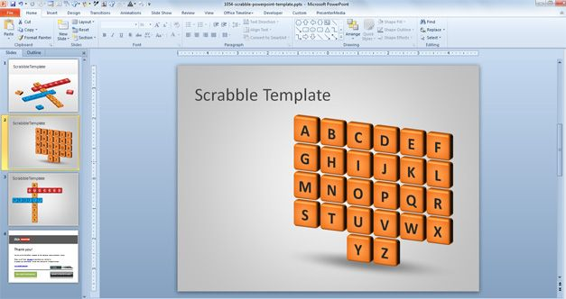 free scrabble powerpoint template