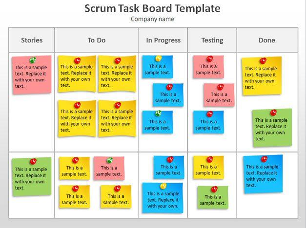 SCRUM task board PowerPoint template